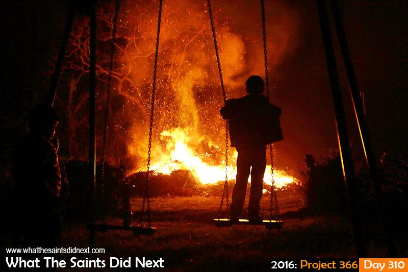 Bonfire night on 5th November, 2016, in Sandy Bay, St Helena.