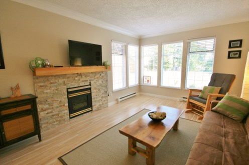 A living room of a home in Sooke, BC
