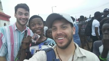 Dan, Joshua and Me at Chale Wote