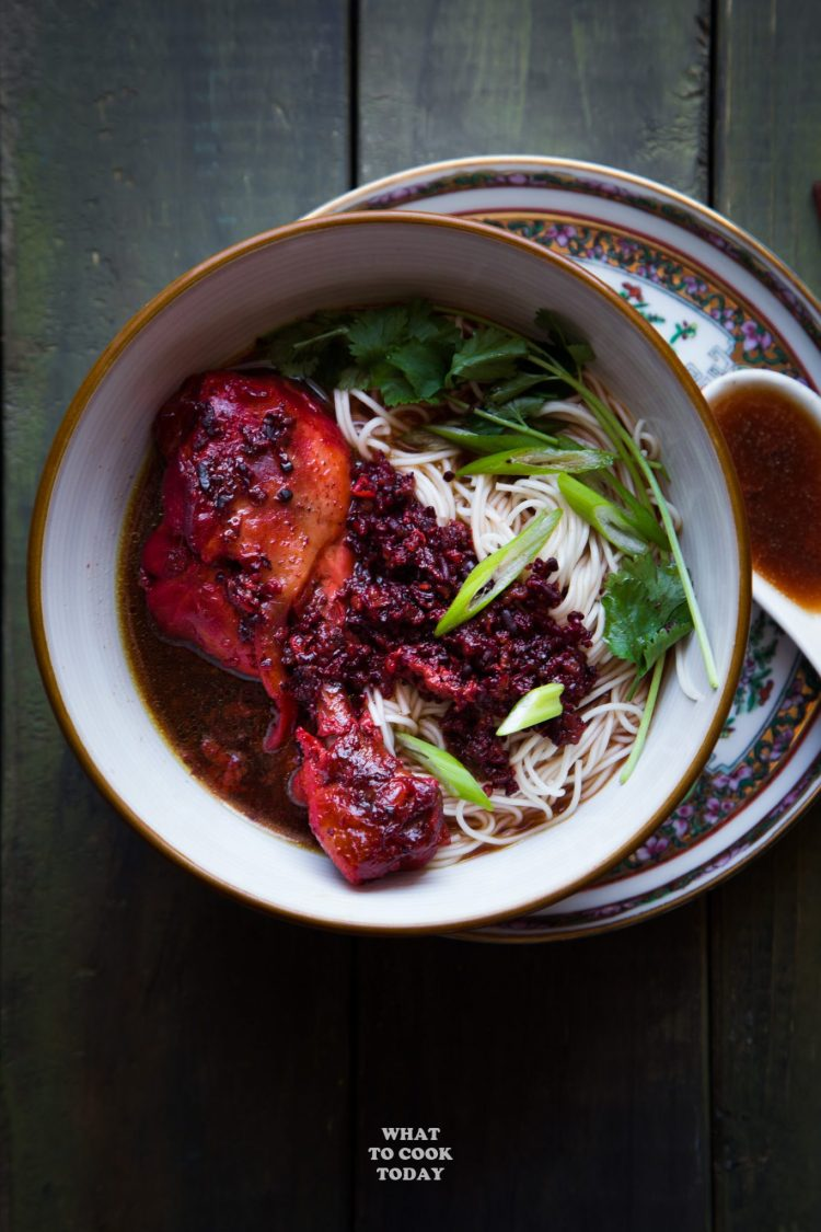 Foochow Red Wine Chicken Noodle Soup