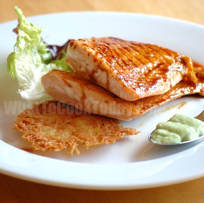 GLAZED SALMON WITH WASABI SABAYON