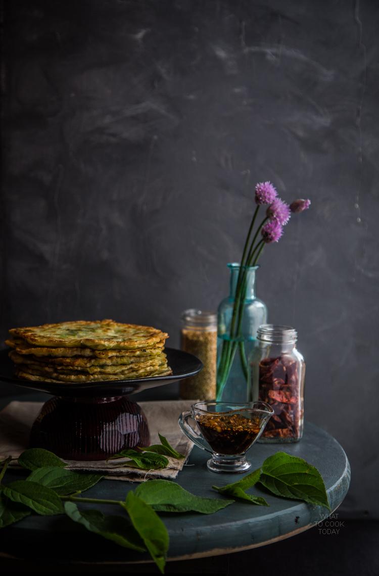 Korean leeks pancakes (Buchu buchingae)
