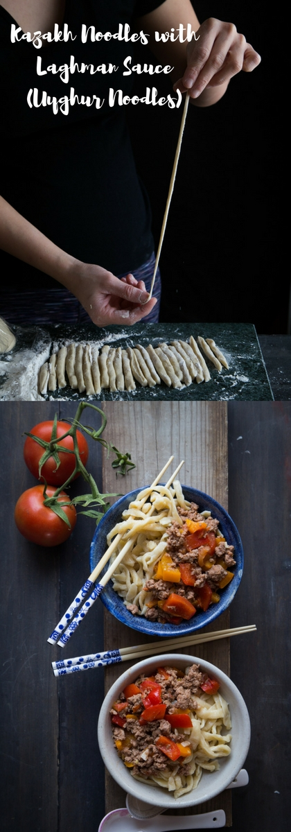 Kazakh Noodles with Laghman sauce / Uyghur Noodles #uyghurnoodles #laghman