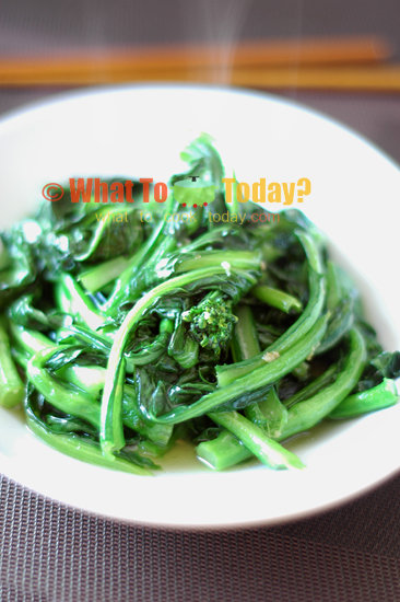 STIR-FRIED CHINESE VEGETABLE/ CHOY SUM