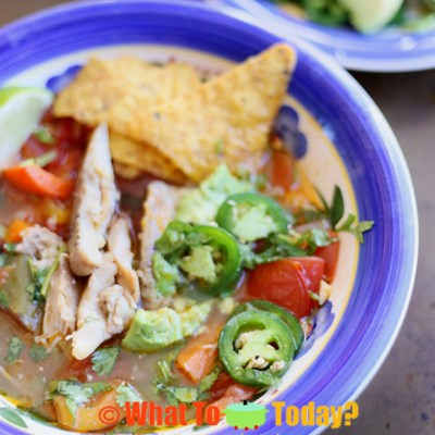 RUSTIC CHICKEN TORTILLA SOUP