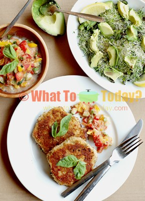 30-MINUTE MEAL: SWEDISH FISH CAKES WITH AVOCADO SPROUT SALAD