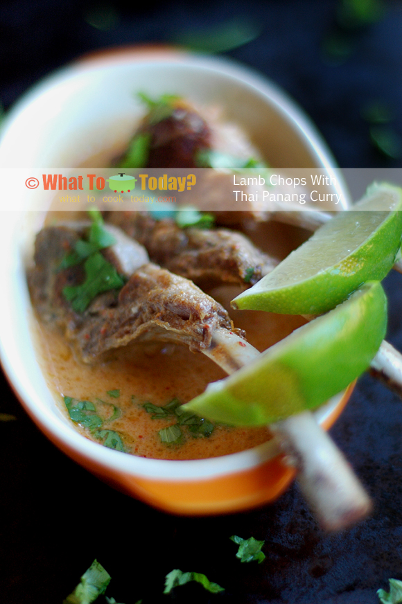 LAMB CHOPS WITH THAI PANANG CURRY