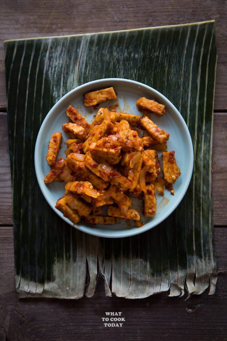Sambal Goreng Tempeh (Fried Tempeh in Spicy Sambal)#tempeh #sambal #spicyfood