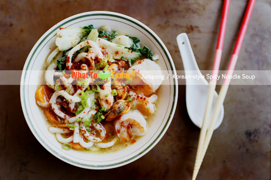 KOREAN-STYLE SPICY NOODLE SOUP / JAMPONG