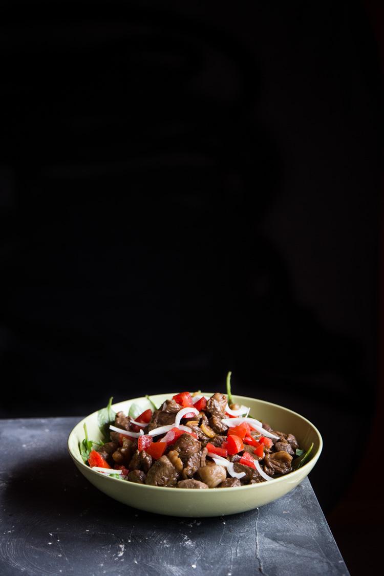 Vietnamese Shaking Beef with Garlic Sauce (Bo Luc Lac)