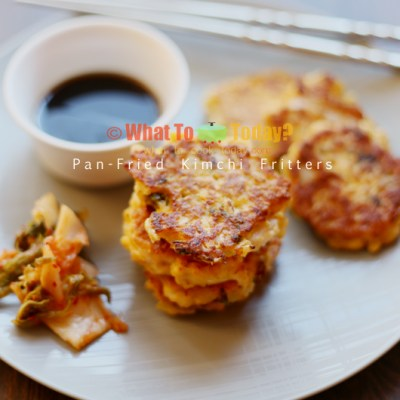 PAN-FRIED KIMCHI FRITTERS