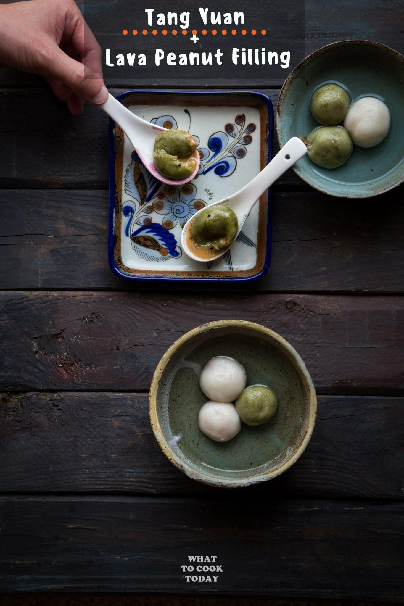 Tang Yuan with Lava Peanut Filling #tangyuan #peanut #chinesefood #dessert