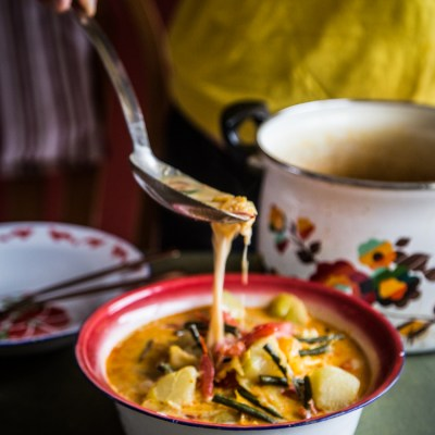 Vegetables in coconut milk (Sayur lodeh)