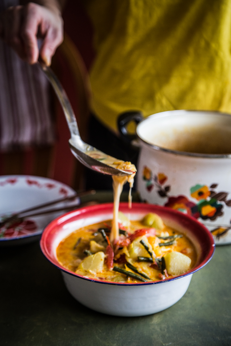 Vegetables in coconut milk (Sayur lodeh)