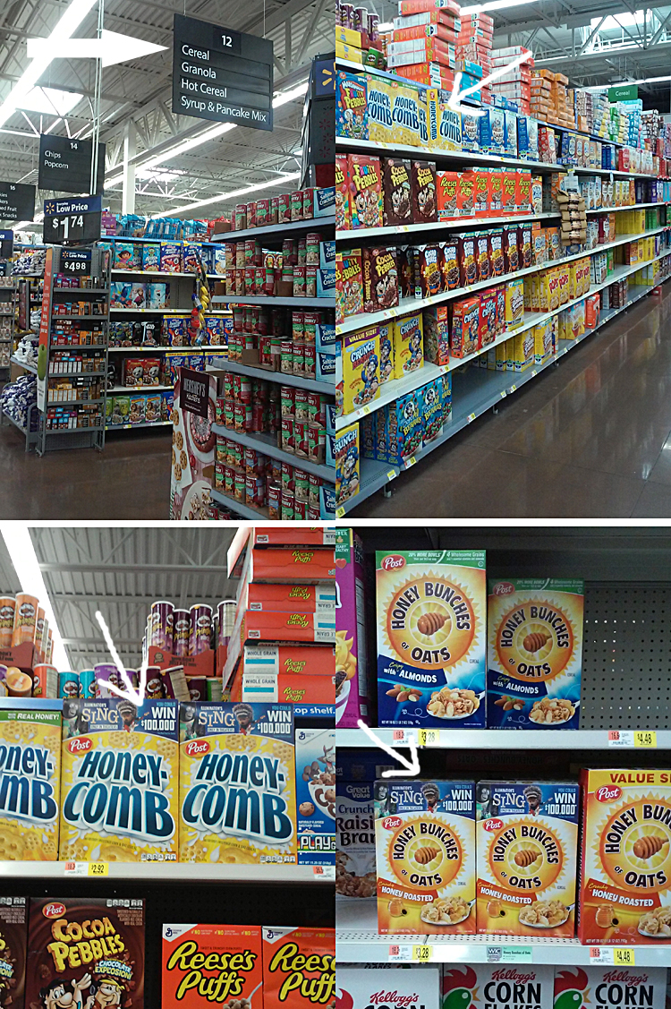 Post Honey Comb Cereal SING Promotion
