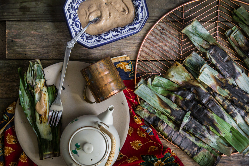 Grilled fish cake in banana leaves (Otak Otak)
