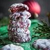 Soft and gooey red velvet crinkle cookies