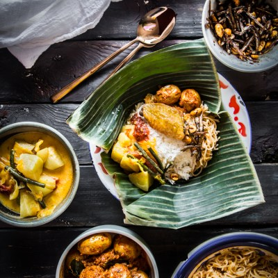 Nasi Sayur Medan (Indonesian Vegetables with Rice)