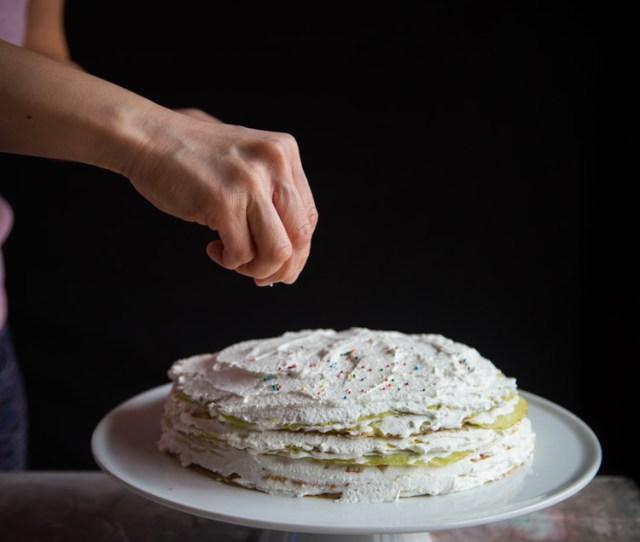 Pandan Mille Crepe Cake