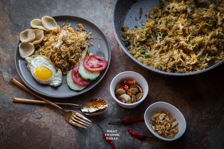 Leftover Turkey Nasi Goreng (Indonesian Fried Rice) #nasigoreng #turkey #friedrice