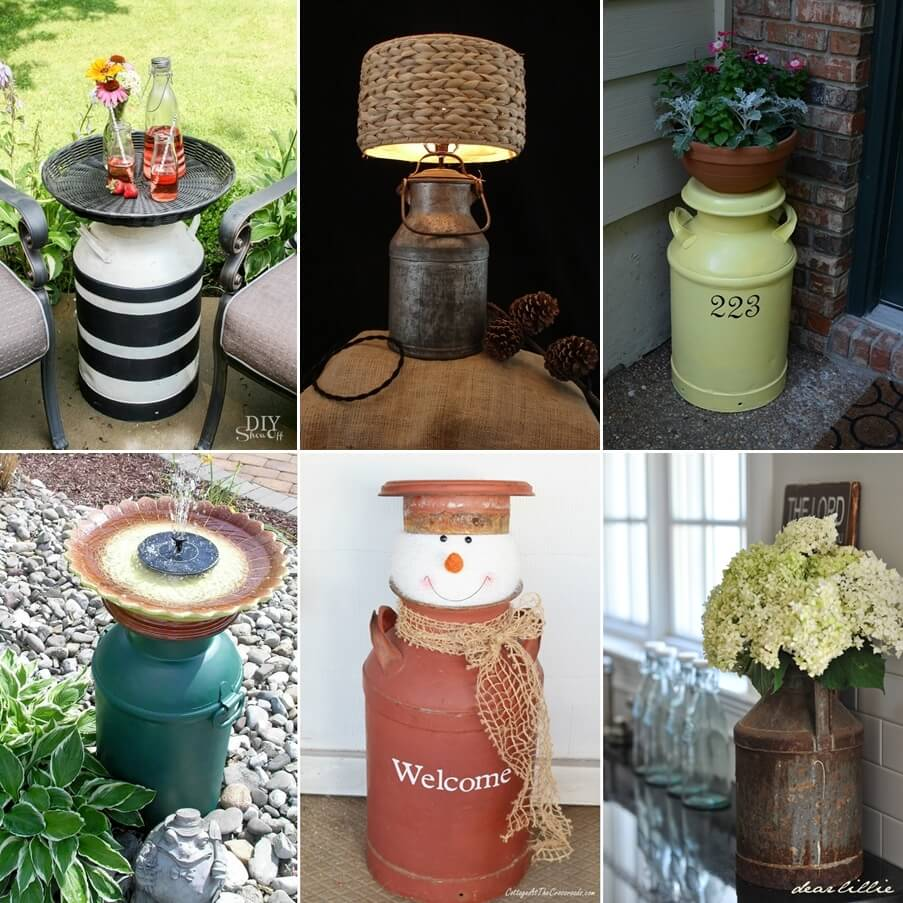WhatToDoWithOld What To Do With Old Milk Cans