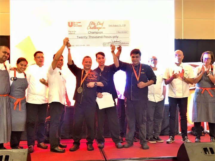 RHI PR - Chefs de Partie Rey Parreño II & Jorwen Botea, and Commis 1 Rene Paul Loriega receive championship award