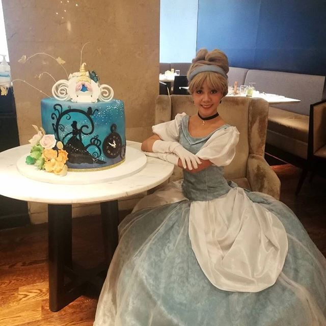 Cinderella with custom cake by Marriott Cafe Bakery