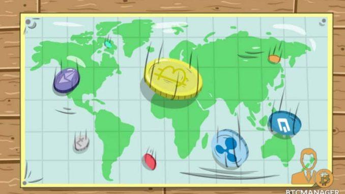 География продажи ICO токенов