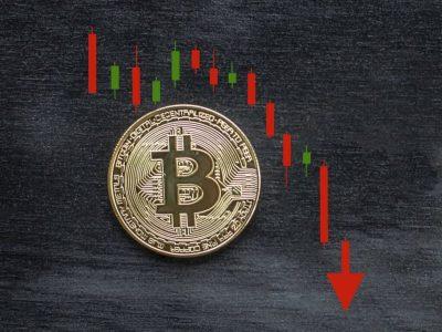 За два часа цена BTC упала на 18%