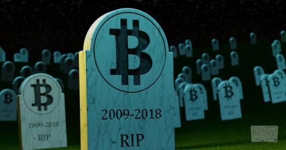 Bitcoin похоронили 90 раз за 2018 год