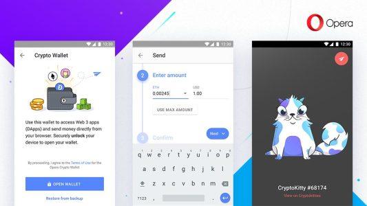 Opera представила владельцам Android-устройств браузер со встроенным криптокошельком