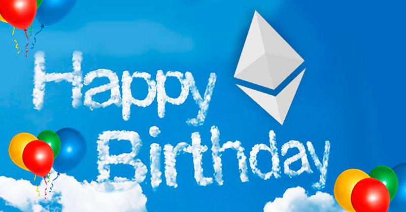 Сегодня празднуем пятилетие блокчейна Ethereum