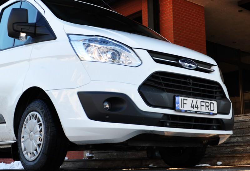 Primul test cu noul Ford Transit Custom Kombi 2.2 TDCI 100 CP 2012