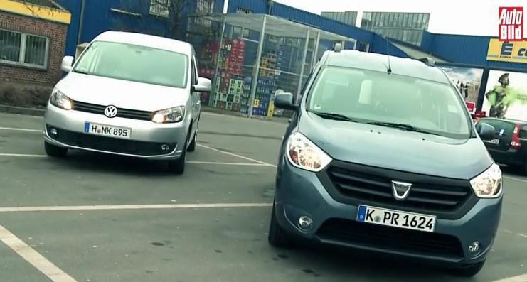 AutoBild lupta impotriva marcii romanesti-Dacia Dokker vs VW Caddy 2014