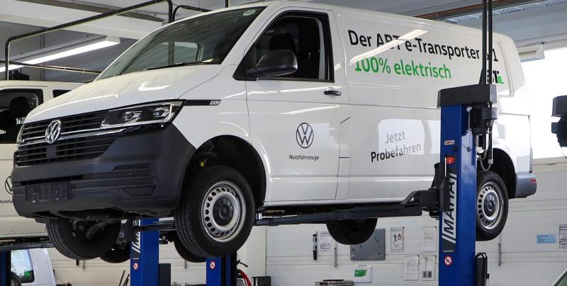 Celebrul tuner german ABT modifica penibil un VW Transporter 6.1! ABT e-Transporter 6.1 electric