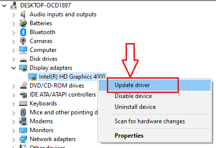 How to Update graphics card driver in Windows 10/8.1/8/7/XP 5