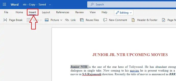 How to insert, edit and remove Hyperlink in word? 4