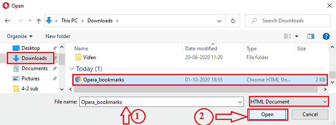 How to Backup, Import, Export opera bookmarks 9