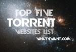 top 5 torrent sites