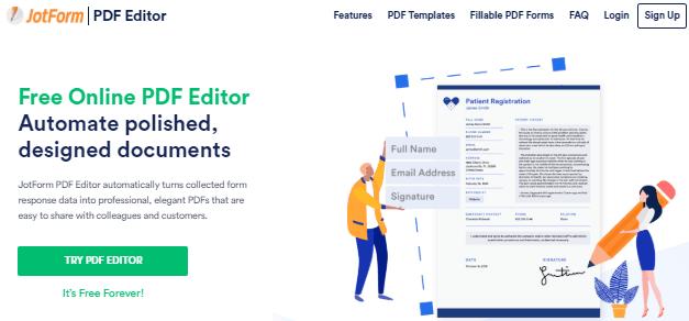 JotForms PDF editor