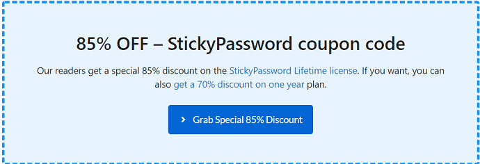 StickyPassword coupon