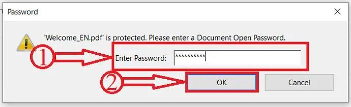 Opening document in Adobe Acrobat DC