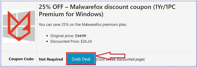 Malwarefox coupon