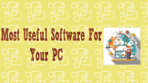 Software for your PC