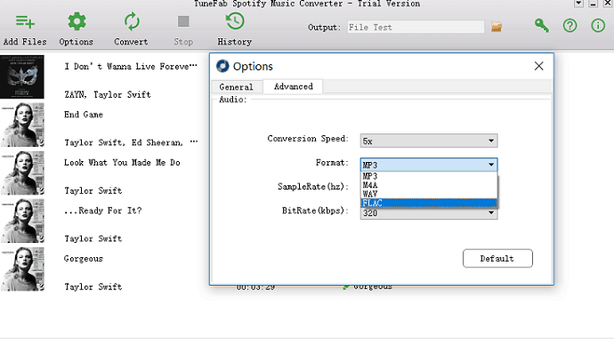 select-output-format