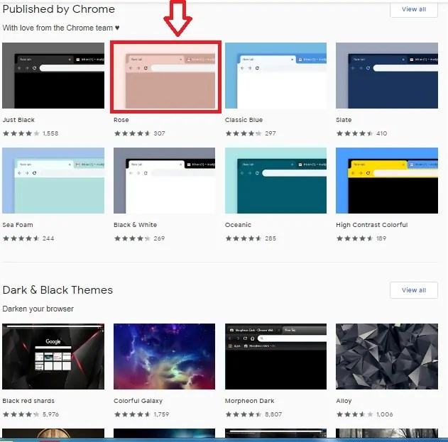 chrome webstore themes