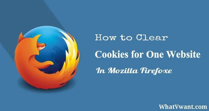 Clear Cookies for a specific site in Firefox