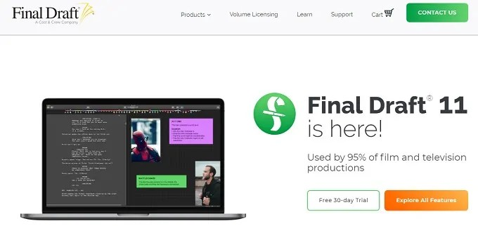 Final Draft: Best script writing software