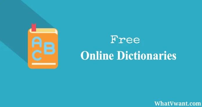 Free online dictionaries