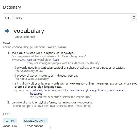 Google Dictionary: free online dictionaries